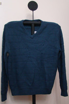 Nautica Mood Indigo Blue Men's V-Neck Colorblock Knit Sweater - Size XL - $49.95