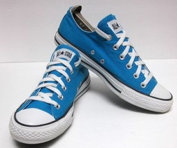 CONVERSE ALL STAR CLASSIC LO-CUT BLUE CANVAS SNEAKERS UNISEX MENS 8  WO'... - $50.39
