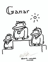 Spanish Apes: Ganar. Original Signed Cartoon by Walter Moore - $9.42