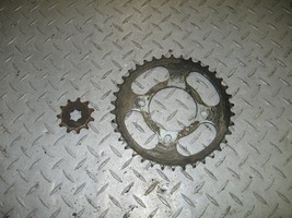 SUZUKI 1987 QUAD RUNNER 300 2X4  FRONT AND REAR SPROCKETS  PART 28,206 - $25.00