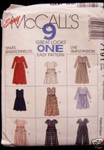 Misses Dress Jumpsuit Patterns Mccall's Sz Y XSM-SM-M - $5.93