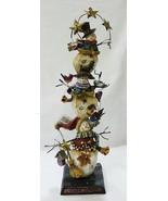 Romano Incl. Snowmen Torre Madera Mesa de Navidad Estantería Decoración ... - $34.65