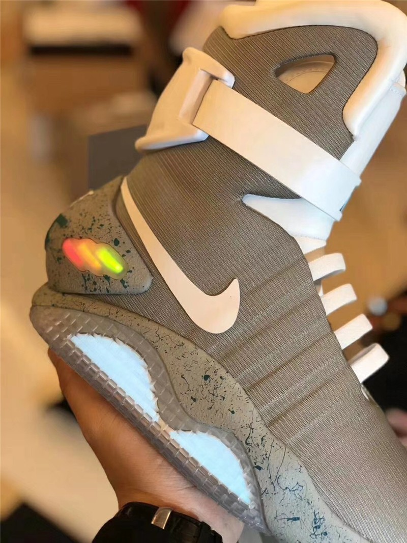 Men's Replica Automatic Laces Air Mag Sneakers Glow in Dark LED Shoes