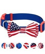Dog Bow Tie American Flag 6 Designs Pack of 1 National Pride Handmade  - £21.60 GBP