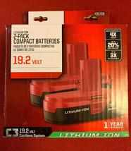 2X 5.0Ah Replacement Craftsman 19.2 Volt Lithium-ion C3 Diehard Battery ... - $56.43