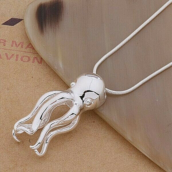 Primary image for Octopus Pendant Necklace 925 Sterling Silver NEW