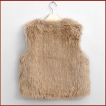 Beige Fox Hair Faux Fur Vest - Fun fashion furs worn w/ everything! image 3