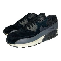 Nike Womens Air Max 90 Running Shoes Black Gray 768887-001 Low Top Lace Up 10 M - $59.39