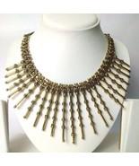 Golden Oxidize Fringe Necklace Choker Wedding Jewelry Tribal Boho Chic G... - $15.83
