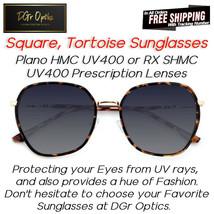 2021 HQ Women SQUARE Plano or RX Prescription Sunglasses,  lightweight a... - $19.62