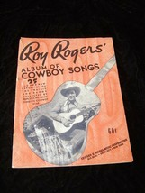 Roy Rogers Album Of Cowboy Songs Song Book Edward B Marks Music Corporation - $14.99