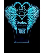 Customized Angel Wings Pet Memorial LED Color Changing Lamp With Optiona... - $49.95