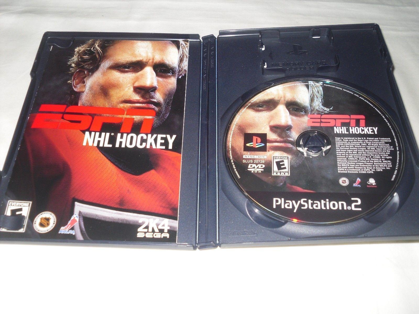 ESPN NHL Hockey (Sony PlayStation 2, 2003) Complete Game