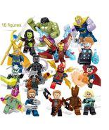 Avengers 16 pcs Hulk Thanos Loki Super heroes model figure doll toy set ... - $31.00