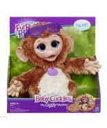New Furreal Friends Baby Cuddles My Giggly Monkey Pet Plush Stuffed Animal - $475,86 MXN