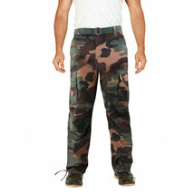 Men's Camo Military Tactical Work Combat Army Slim Fit Twill Cargo Pants image 6