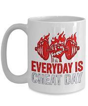 PixiDoodle Foodie Fitness Coach Exercise Coffee Mug (15 oz, White) - $20.89