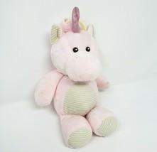 "11"" Kellytoy 2018 Baby Pink Unicorn Rattle Stuffed Animal Plush Toy Lovey W Clip - $28.05"