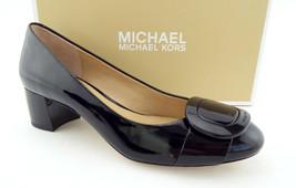 New MICHAEL KORS Size 7.5 PAULINE Black Patent Buckle Pumps Shoes 7 1/2 - $89.00