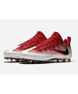 New Nike Vapor Untouchable Pro CF Football Cleats Shoes Mens 14 Red White - $49.00