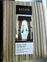 "Croscill Estate Ashfield Window Panels Size 82 x84"" New Set Of 2 Lined Ship Free - $170.00"