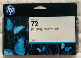 HP 72 Photo Black DesignJet Ink Cartridge 130ml (C9372A) Sealed Retail Box 2021 - $49.48