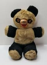 """Vintage Panda Bear 14"""" Amber Eyes Rubber Nose Mouth - $23.95"""