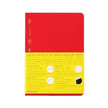STALOGY 018 Editor's Series 1/2 Year Notebook (A6/Red) Ship From Japan - $23.99