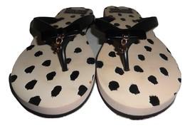 a600fa1d0990 Nwot - Kate Spade Fifi BEIGE BLACK Rubber Flip Flops - Size 7M -  29.99