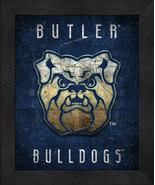 "Butler Bulldogs ""Retro College Logo Map"" 13 x 16 Framed Print  - $39.95"