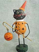 New Lori Mitchell Halloween Black Cat Figure Smitten Kitten Pointy hat S... - €26,11 EUR