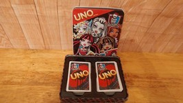 Monster High UNO Card Game w/Collector Tin 2013 Cardinal,   Mattel  CLEA... - $10.88