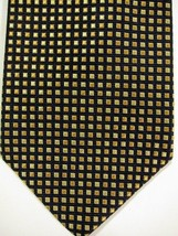 NEW Brooks Brothers Dark Blue and Gold Check English Silk Tie - $44.99