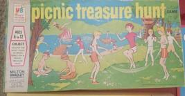 Vintage Picnic Treasure Hunt Game 1971 Milton Bradley - Ages 6+ Complete Set - $12.20