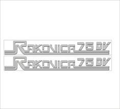 RAKOVICA 76 DV - Tractor decal set, reproduction - $27.00