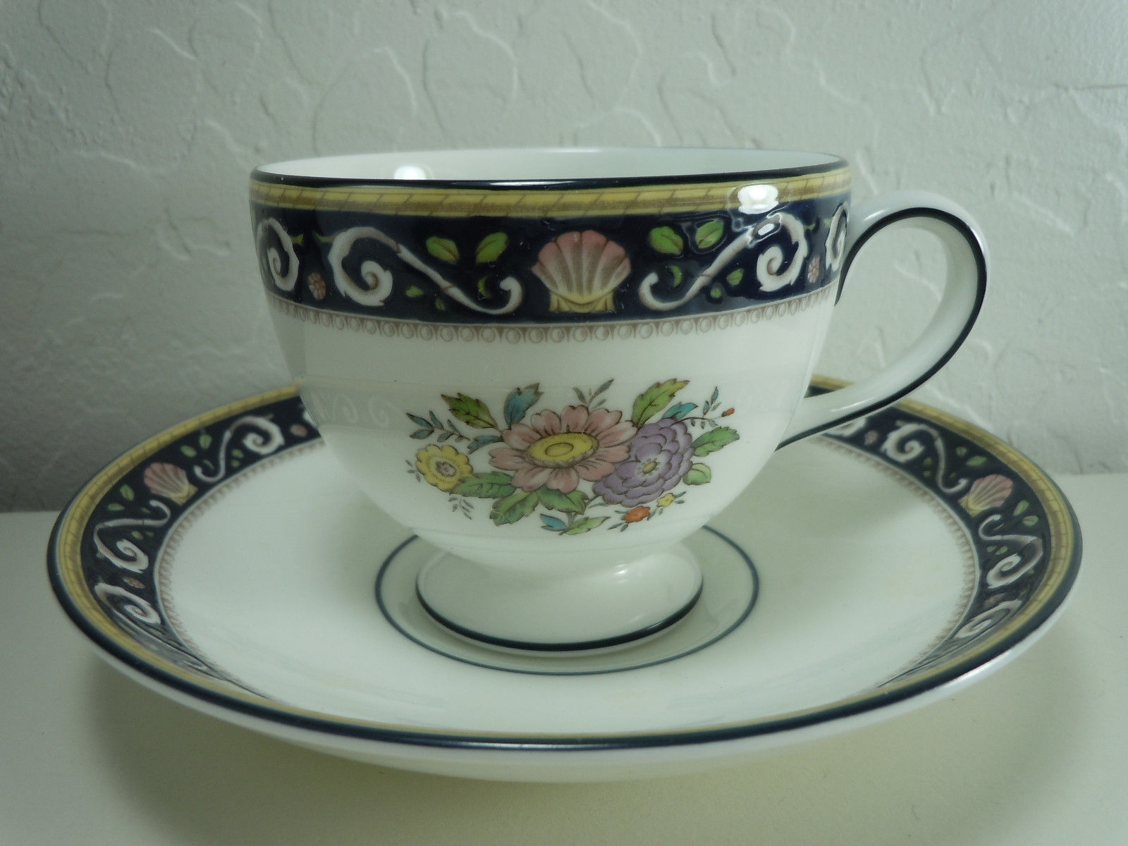 Wedgwood Runnymede Blue Cup and Saucer