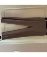 NWOT UNIQLO Brown White Mini Tattersalls Pull-on Pants SZ S - $38.61
