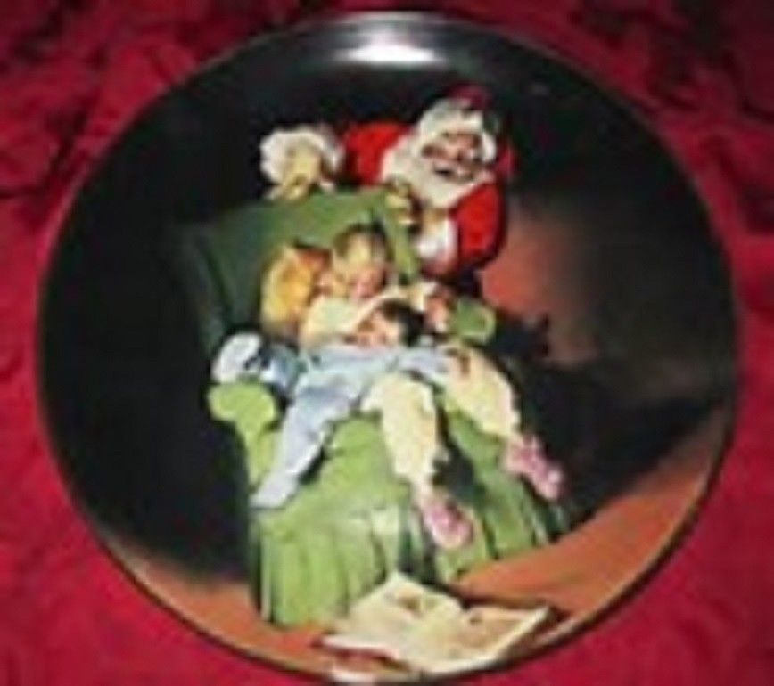 Sundblom Babbo Natale Serie 1990 da Collezione Piastra Porta Knowles Orig