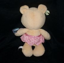 FISHER PRICE 2009 TEDDY BEAR R6794 CLUTCH CHIME RATTLE STUFFED ANIMAL PLUSH TOY image 3
