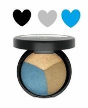 Laura Geller Baked Eye Pie Shadow BLUEBERRY MUFFIN Matte Gray & Blue + H... - $8.90