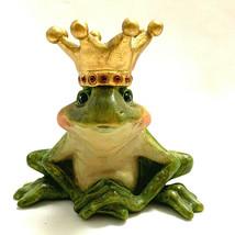 Green Frog Prince/King Resin Figurine   - $34.75