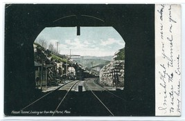 Hoosac Railroad Tunnel West Portal Massachusetts 1907c postcard - $6.44