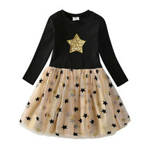 NEW Flip Sequin Gold Star Girls Long Sleeve Christmas Tutu Dress - $16.99
