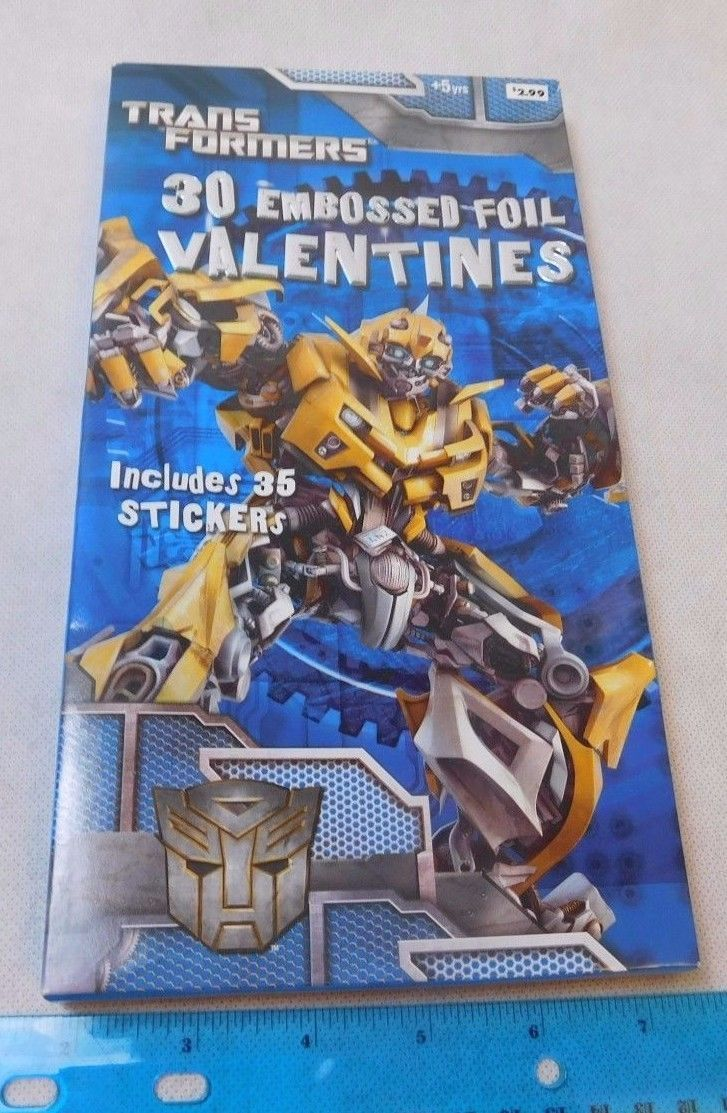Transformers 2010 Embossed Foil Valentines Valentine's Day Cards