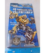Transformers 2010 Embossed Foil Valentines Valentine's Day Cards - $4.99