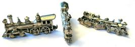 TRAIN ENGINE FIGURINE CAST WITH FINE PEWTER - Approx. 1 1/4 inch Long (T163) image 4