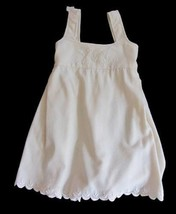 Antique girls pinafore dress cream wool embroidered NWT's age 5 - $31.05