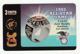 1995 Topps Stadium Club Ring Leaders Phone Card Silver 1992 All-Star Game  - $5.89