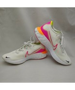 Nike Renew Run React White Neon Pink Yellow Orange Running Shoes Women's... - $84.15