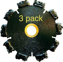 """3pk 5"""" Fire Rescue Root Cutter Carbide tipped Demolition Blade x .250  - $252.45"""